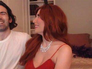 Redhead Sexy Chick in POV Swallows Tough Fertile Penis